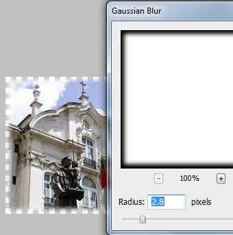 Gradual fade boarder Gaussian blur photoshop