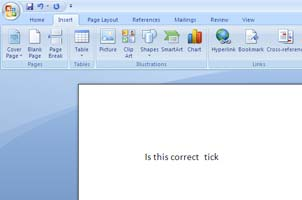 Add Tick Word Document